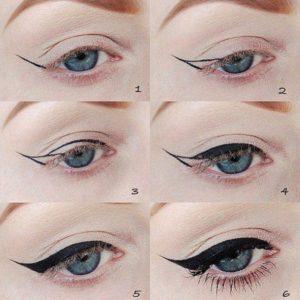 Базовая схема, как рисовать стрелки на глазах