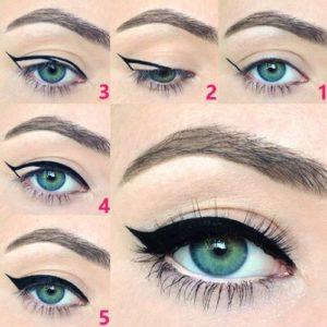 Схема, как рисовать стрелки на глазах