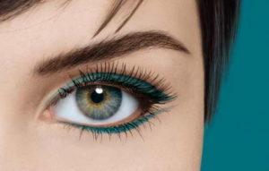 Цветные стрелки для серых глаз