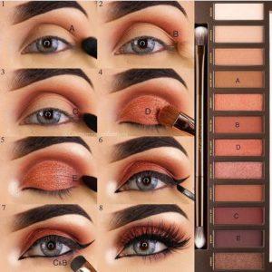Пошаговый урок по созданию макияжа глаз с помощью палетки Naked Heat от Urban Decay