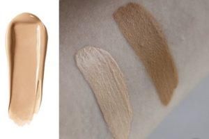 Свотч тональной основы для макияжа High Definition Studio Photogenic Foundation от NYX в оттенке 101.5 Warm Ivory