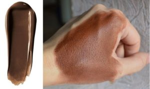 Свотч тональной основы для макияжа High Definition Studio Photogenic Foundation от NYX в оттенке 114 Deep Espresso