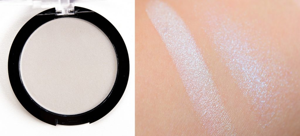 Свотч хайлайтера Duo Chromatic Illuminating Powder от NYX Professional Makeup в оттенке 01 Twighlight Tint