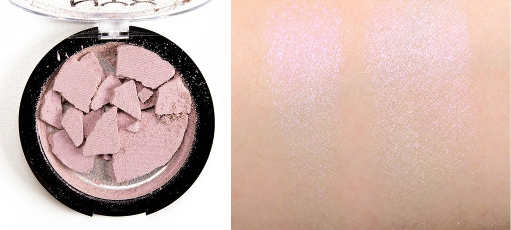 Свотч хайлайтера Duo Chromatic Illuminating Powder от NYX Professional Makeup в оттенке 02 Lavender Steel