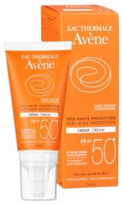 Солнцезащитный крем Eau Thermale SPF 50+ от Avene