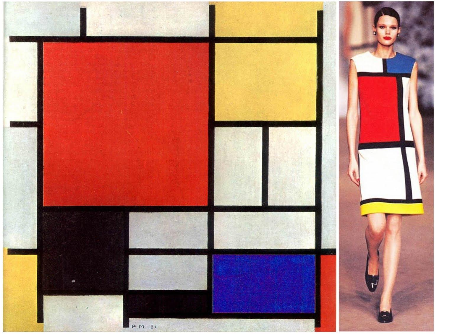 Коллекция Yves Saint Laurent 1965 года по картинам Пита Мондриана