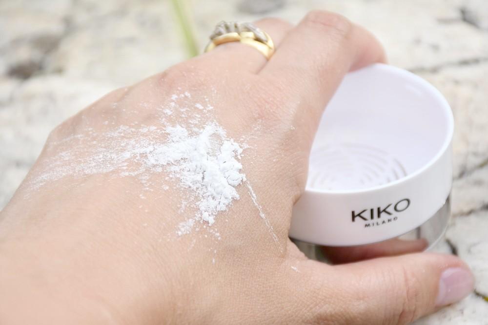 Фото с примером до использованияInvisible Touch Face Fixing Powder от Kiko Milano