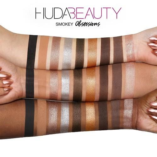 Huda Beauty Smokey Obsessions свотчи