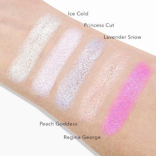 Jeffree Star Cosmetics Skin Frost swatches
