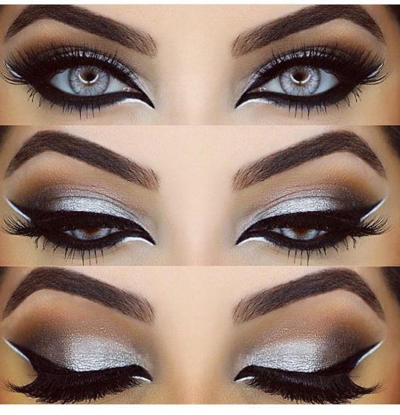 Новогодний макияж кошачий глаз