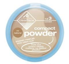 Антибактериальная компактная пудра Clearface Compact Powder от Manhattan