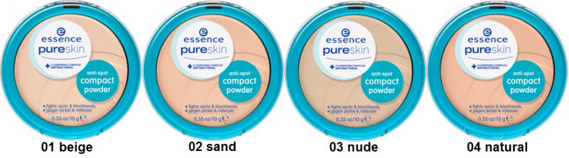 Антибактериальное компактное средство Pure skin от Essence