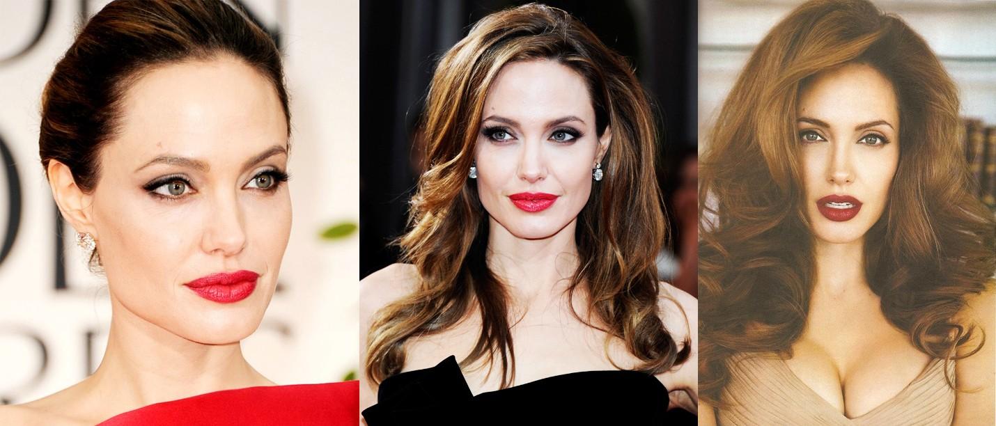 Вечерний макияж Анджелины Джоли