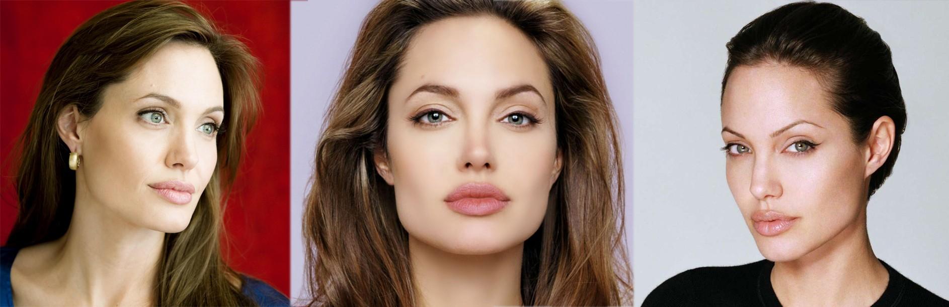 Естественный макияж Анджелины Джоли