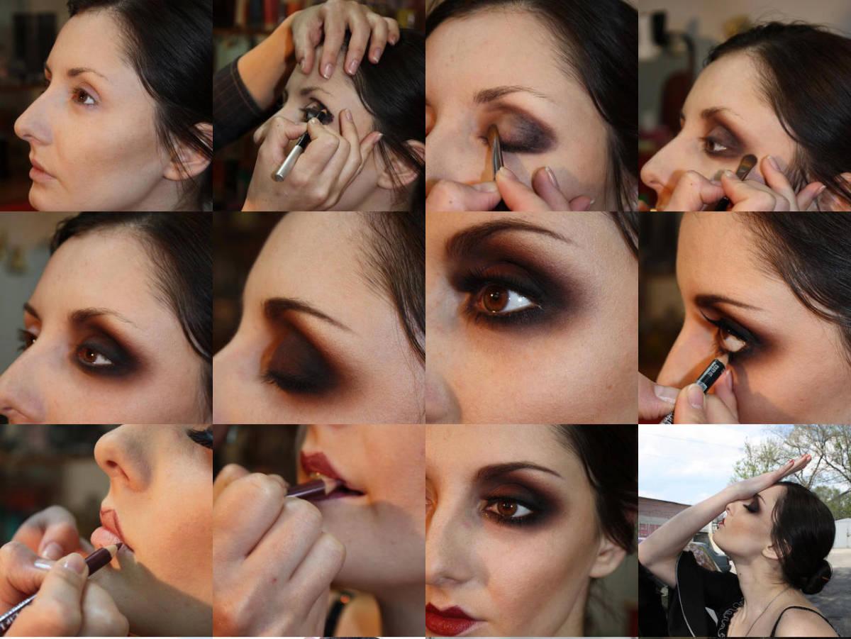 Пошаговое выполнение макияжа в стиле 20-х годов