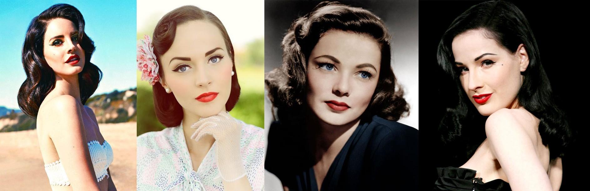 Примеры макияжа в стиле 40-х годов