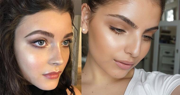 Летний макияж в технике стробинг