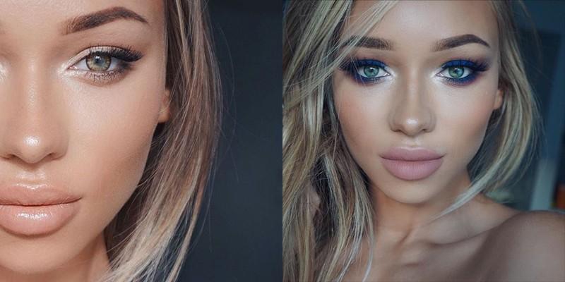 Летний макияж для блондинки