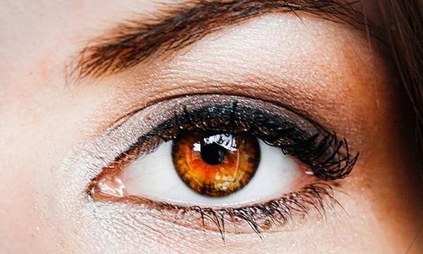 Макияж для янтарных глаз