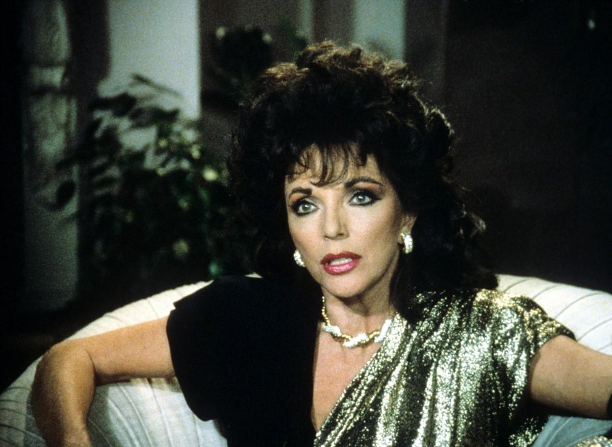 Деловой макияж 80-х годов на Джоан Коллинз