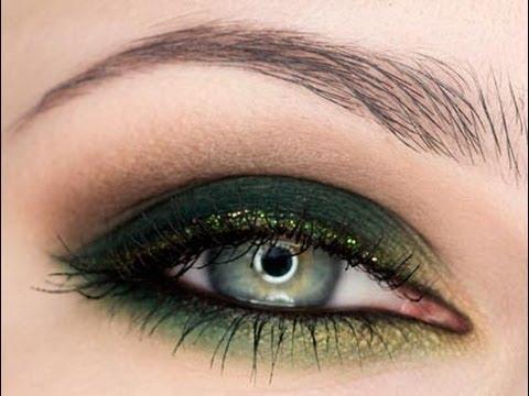 Яркий вечерний макияж для зеленых глаз