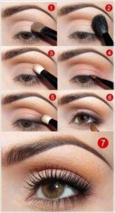 Пошаговая инструкция по созданию nude look для карих глаз