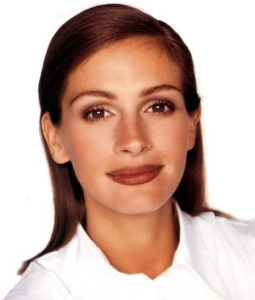 Макияж в стиле 90-х годов на Джулии Робертс