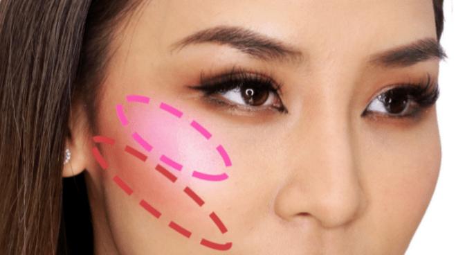 Схема дрейпинга в осеннем макияже