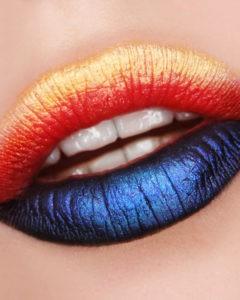 Необычный макияж губ