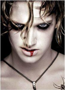 Макияж вампира для мужчины