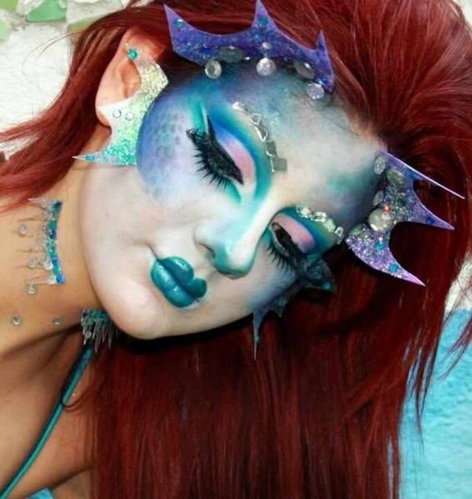 Макияж русалки на Хэллоуин