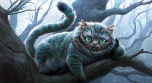 Чеширский кот из фильма Тима Бёртона «Алиса в стране чудес»