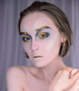 Нежный макияж русалки на Хэллоуин