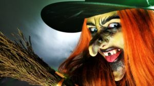 Устрашающий макияж ведьмы