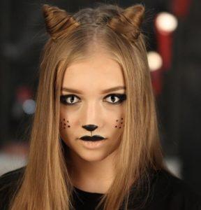 Макияж кошки с линзами