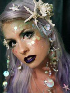 Яркий макияж русалки