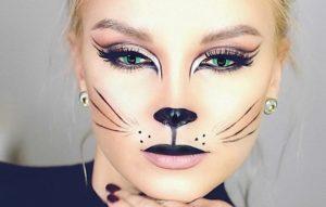 Яркий макияж кошки