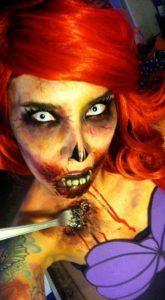 Ужасающий макияж русалки-зомби
