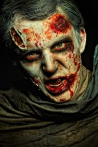 Мужской макияж зомби