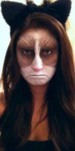 Женский макияж грустного кота