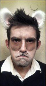 Мужской макияж грустного кота