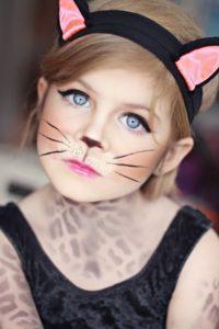 Детский макияж кошки