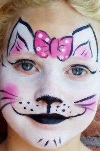 Детский макияж кошки на Хэллоуин