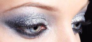 Серебристый зимний макияж