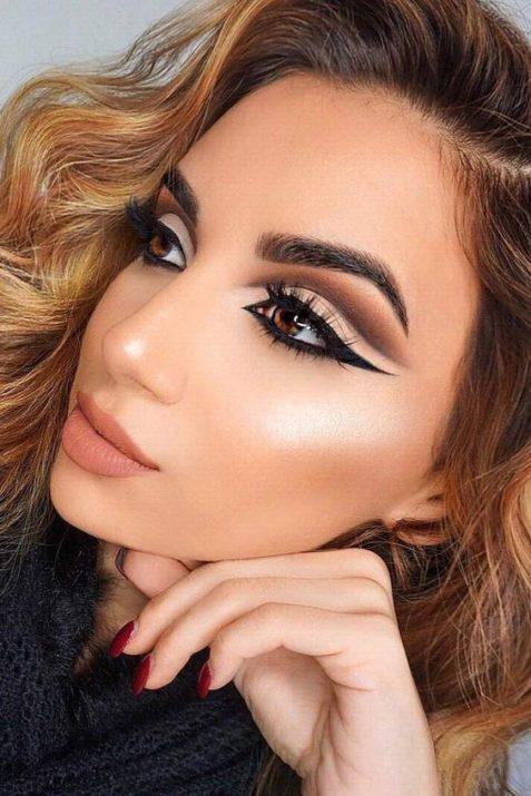 Техника макияжа глаз cut crease