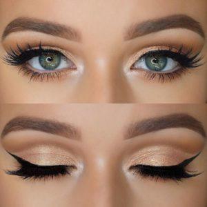 Повседневный макияж глаз в технике cut crease