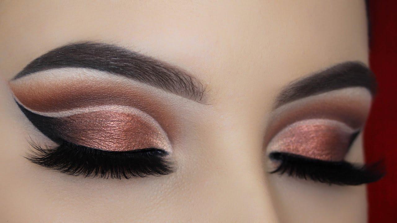 Вечерний макияж глаз в технике cut crease