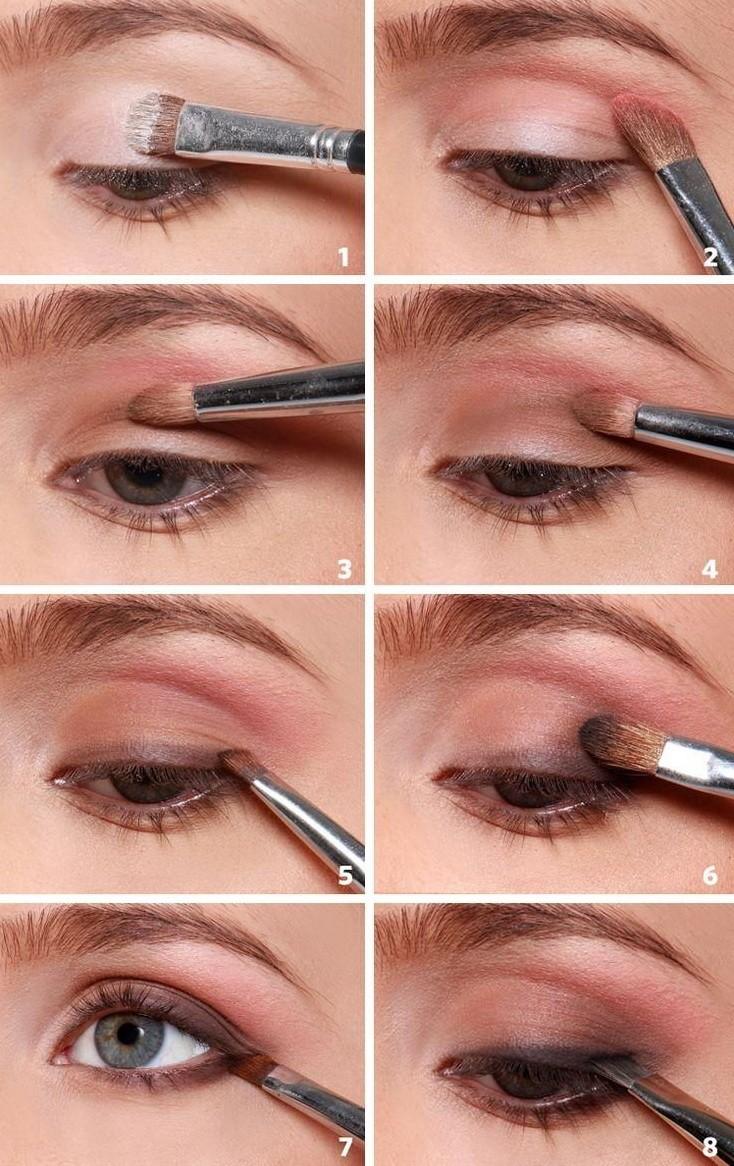 Пошаговый урок по красивому макияжу глаз в домашних условиях