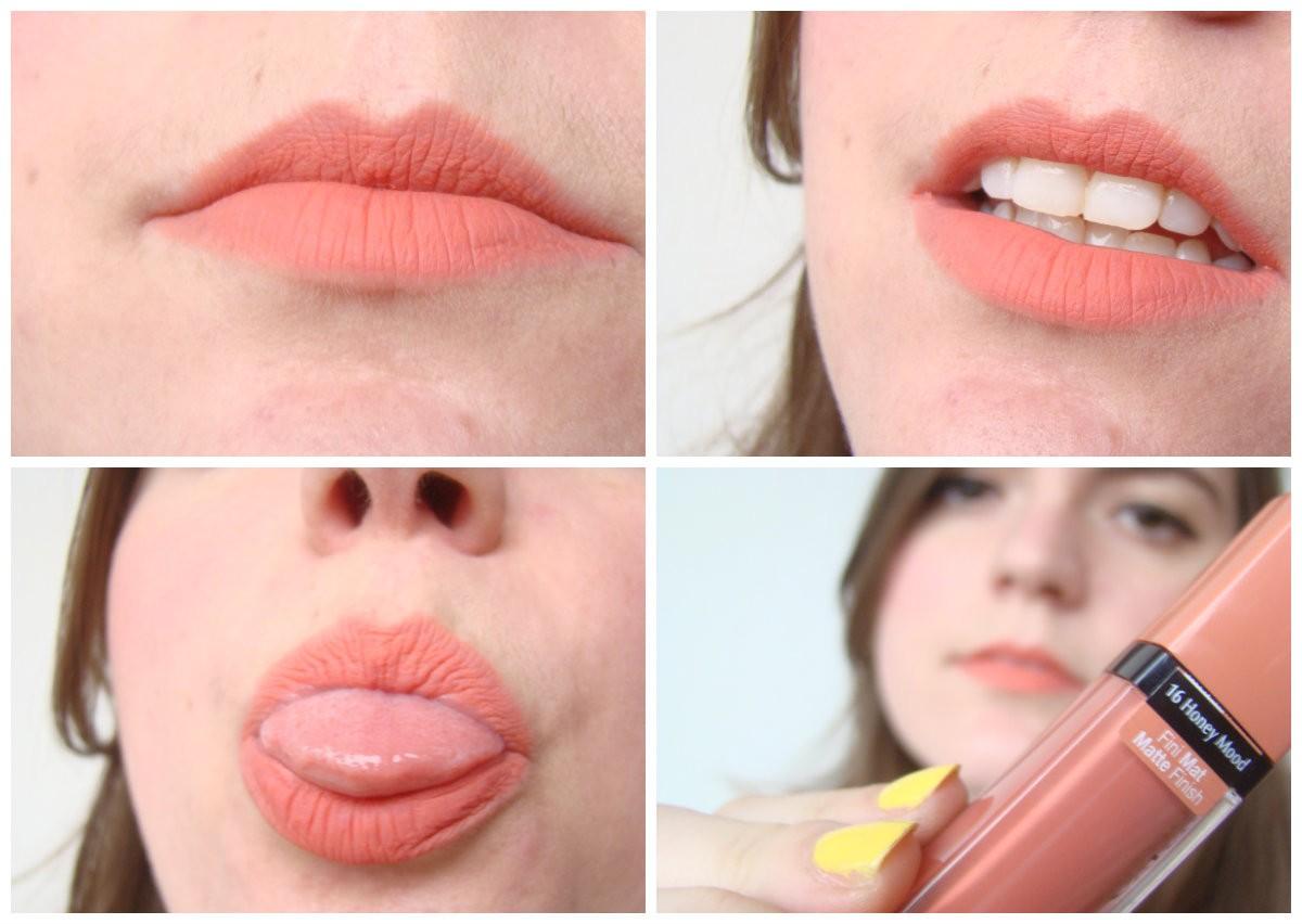 Оттенок №16 Honey mood из линейки матовых помад Rouge Edition Velvet от Bourjois