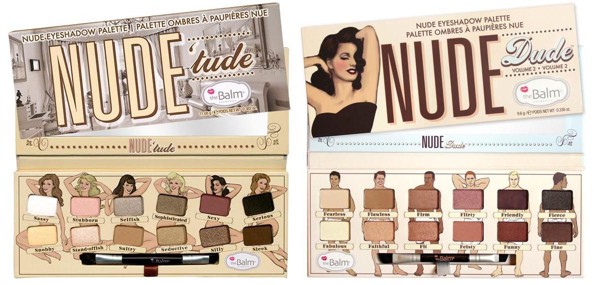 Палетки Nude 'Tude и Nude Dude от theBalm
